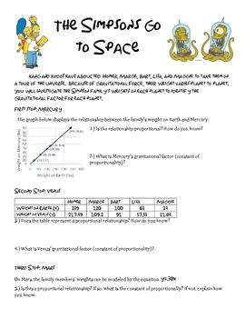 Proportional Relationships: Simpsons in Space