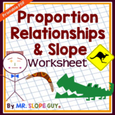 Proportional Relationships in Tables Graphs and Equations Worksheet