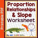 Proportional Relationships & Slope PDF Worksheet Go Math 8.EE.B.5