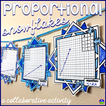 Proportional Relationships Snowflake Math Pennant Activity