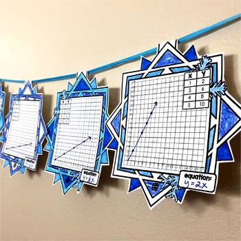 Proportional Relationships Snowflake Pennant Activity