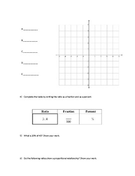Proportional Relationships Study Guide (Modified)