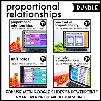 Proportional Relationships - Supplemental Digital Math for Google Slides™