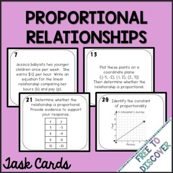 Proportional Relationships Activity - Task Cards