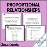 Proportional Relationships Task Cards Activity