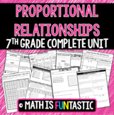 Proportional Relationships Unit (7th Grade)