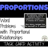 Proportional Relationships from Word Problems Task Card Ac