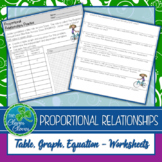Proportional Relationships Worksheets