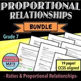 Proportional Relationships Worksheet Bundle