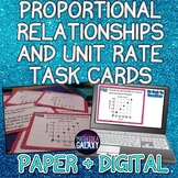Proportional Relationships and Unit Rate Task Cards
