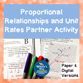 Proportional Relationships and Unit Rates Partner Activities