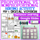 Proportional Nonproportional Relationships Sorting Activit
