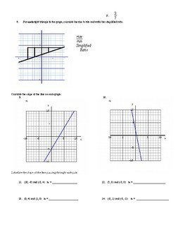 Chapter 2 Test:  Proportional and Linear Relationships