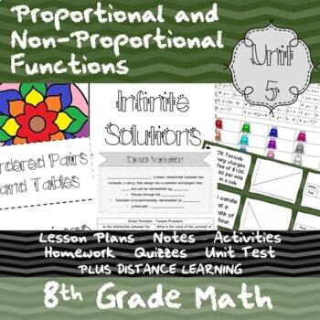 Proportional and Non-Prop. Functions-(8th Grade Math TEKS8