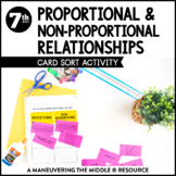 Proportional and Non Proportional Relationships: Card Sort