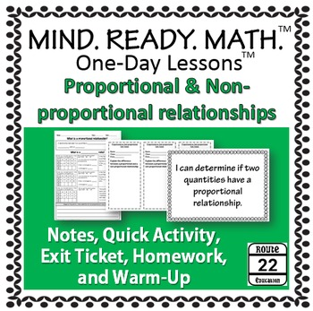 Proportional Relationships in Tables, Graphs, and Equations