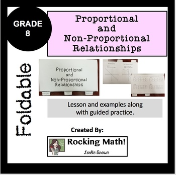 Proportional and Non-Proportional Relationships Foldable