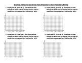 Proportional and Non Proportional Relationships (Graphing)