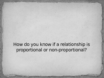 Proportional and Non-Proportional Relationships Powerpoint