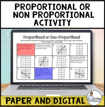 Proportional and Non Proportional activity