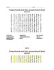 Proportional and Non-proportional Relationship Vocabulary Unit