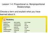 Proportional and Nonproportional Relationships Lesson 1-4