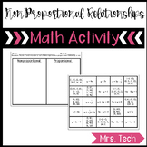 Proportional and Nonproportional Relationships Sort Activity