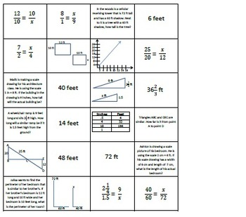 Proportional And Similar Figure Matching By Mrsslick Tpt