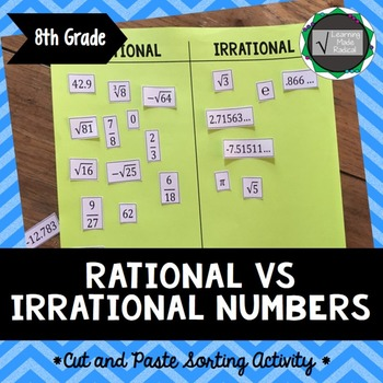 Rational vs Irrational Cut and Paste Sorting Activity