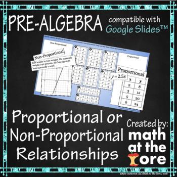 Proportional or Non-Proportional Relationships - GOOGLE Slides