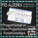 Proportional or Non-Proportional Relationships - GOOGLE Slides