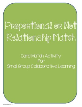 Proportional or Not Relationship Card Match