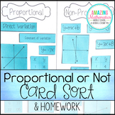 Proportional vs Non-Proportional Card Sort & Homework