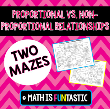 Proportional vs. Non-Proportional Relationships Mazes