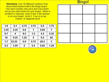 Proportionality Constant Bingo for the Smartboard 7.RP.A.2.B