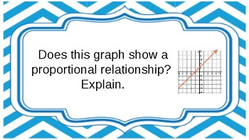 Constant of Proportionality / Direct Variation Quiz Quiz Trade Cards