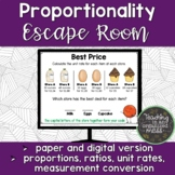 Proportionality Escape Room--Paper and Digital Option