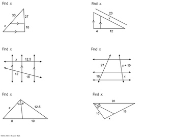 Proportionality Theorems Foldable