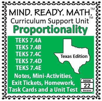 Proportionality Unit TEKS 7.4A 7.4B 7.4C 7.4D 7.4E