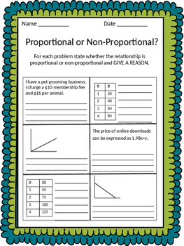 Proportionality Worksheet