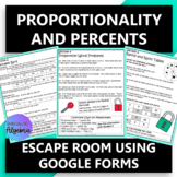 Proportions and Percents Escape Room using Google Forms