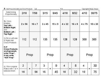 Proportions 02: Determine Proportionality via Cross-Products