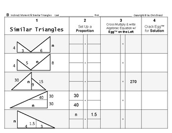 Proportions 06: Indirect Measurement and Similar Triangles