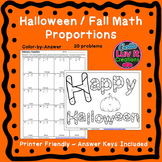 Halloween Fall Proportions Color by Number Coloring Page