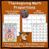 Thanksgiving Math Activity Solving Proportions Bundle