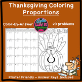 Thanksgiving Fall Proportions Color by Number Coloring Page
