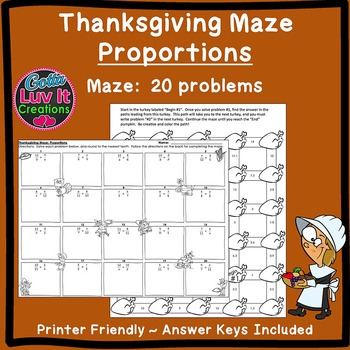 Thanksgiving Fall Proportions Maze