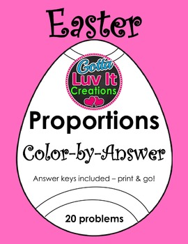 Easter Spring Proportions Color-by-Answer