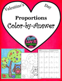 Valentine's Day Proportions Color by Number