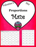 Valentine's Day Proportions Maze